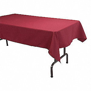 "96"" x 52"" Rectangle Visa© Tablecloth, Burgundy&#x3b; PK1"