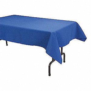 "96"" x 52"" Rectangle Visa© Tablecloth, Royal Blue&#x3b; PK1"