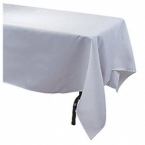 "72"" x 72"" Square Visa© Tablecloth, White; PK1"