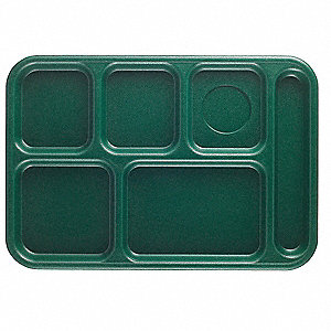 Tray,w/ Compartments,10x14,Green