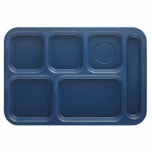 Tray, w/ Compartments, 10x14, Navy Blue
