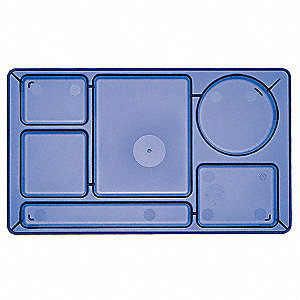 Tray,w/ Compartments,8-3/4x15,Green