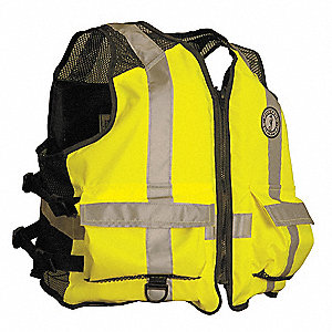 Mesh Life Vest,Yellow/Green,2XL/3XL