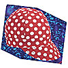 CAP RED W/WHITE POLKA DOT 7-1/8