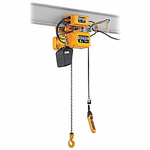 HOIST/TROL. 220V 2T 15FT 27/4.5FPM