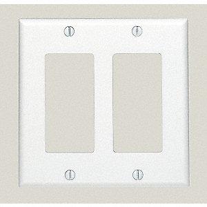 COVER PLASTIC 2-GANG WHITE