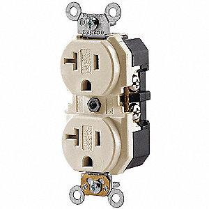 RECEPTACLE TR DUP 20A IVORY