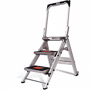 LADDER 2-STEP SAFETY STEP W/BAR