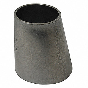 "T316L Stainless Steel Eccentric Reducer, Butt Weld Connection Type, 2-1/2"" x 2"" Tube Size"