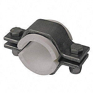 T304 Stainless Steel/Polypropylene Hex Hanger with Insert, For Tube Size:  2-1/2""