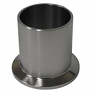 "T316L Stainless Steel Ferrule, Clamp x Orbital Weld Connection Type, 1/2"" Tube Size"