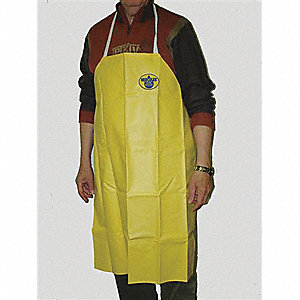 APRON PVC YELLOW 8OZ 26X35IN