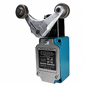 Rotary, Roller Lever General Purpose Limit Switch; Location: Side, Contact Form: 1NC/1NO, Rotary, Ma