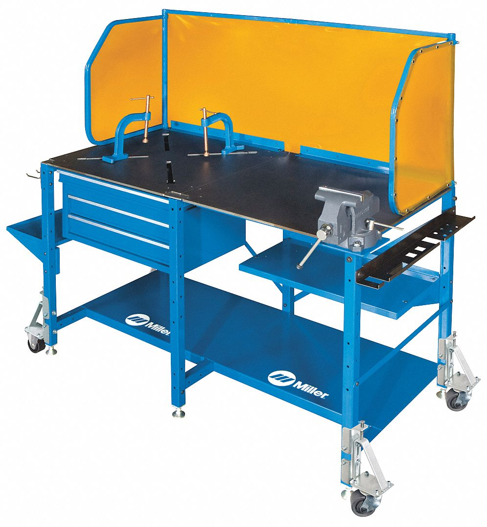 Welding Table, Steel, 1000 lb. Cap., Blue
