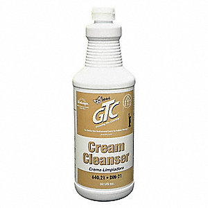 Cream Cleanser, 1 qt. Bottle, Unscented Liquid, Ready To Use, 6 PK
