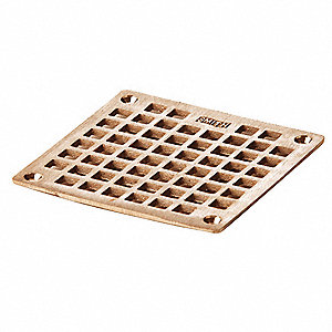 Square Commercial Nickel Bronze Floor Drain Grate