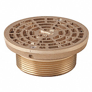 Light Commercial - Light Duty Nickel Bronze Adjustable Floor Drain Strainer