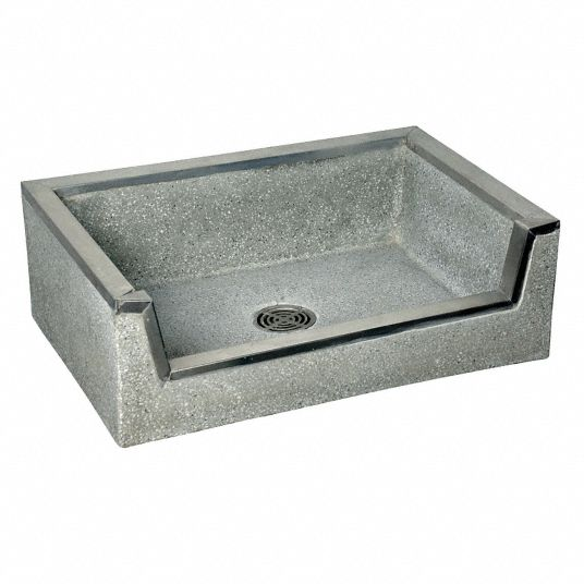 Fiat Products,  Stockton Series,  32 in x 20 in,  Terrazzo,  Mop Service Basin