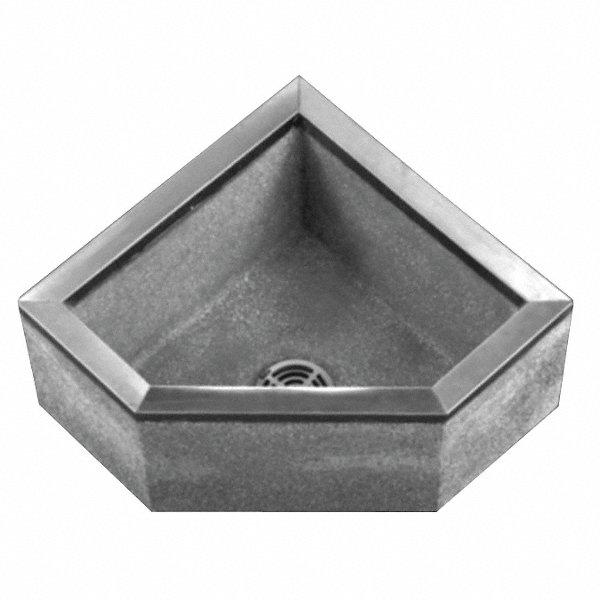 Fiat Products 36 Quot X 36 Quot X 12 Quot Black White Corner Mop Sink