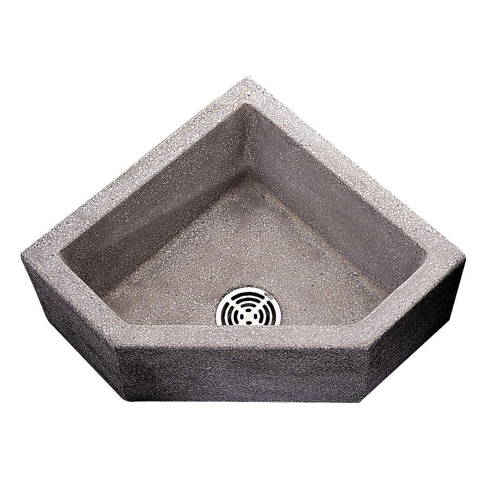 36 X 36 X 12 Black White Corner Mop Sink 10 Bowl Depth Terrazzo