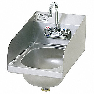 Perfect Hand Sink,With Faucet,12 In. L,18 In. W