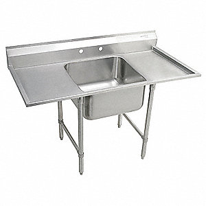 Scullery Sink,Without Faucet,57 In. L
