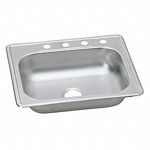 "25"" x 22"" x 6-1/16"" Drop-In Sink with 21"" x 15-3/4""  Bowl Size"