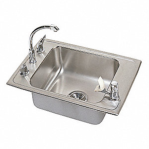 "25"" x 17"" x 5-3/8"" Drop-In Classroom Sink Package with 16"" x 13-1/2"" Bowl Size"
