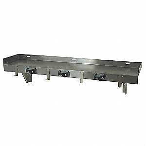 Stainless Steel Mop Sink Utility Shelf