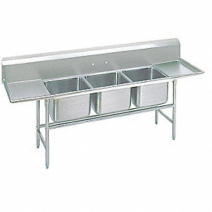 Stainless Steel Scullery Sink, Without Faucet, 18 Gauge, Floor Mounting Type