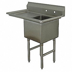 Stainless Steel Scullery Sink, Without Faucet, 16 Gauge, Floor Mounting Type