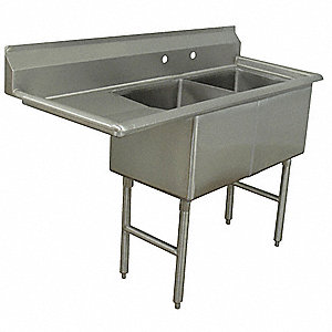 Scullery Sink,Stainless Steel,24 In. W