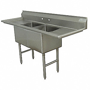 Scullery Sink,Without Faucet,96 In. L