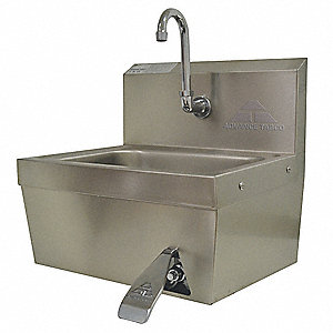 Advance Tabco Stainless Steel Hand Sink With Faucet Wall Mounting