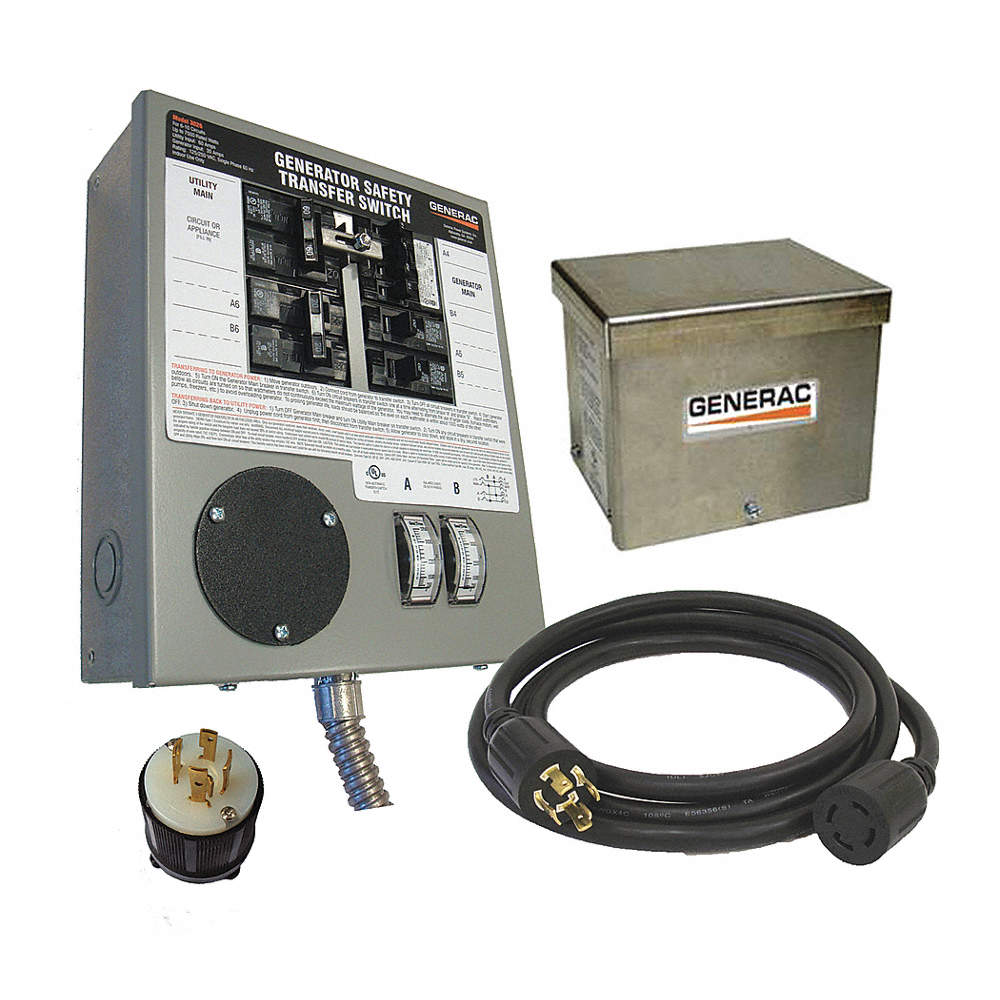 Generac Manual Transfer Switch 30a 120 240v 11u454 6408 Grainger How To Install A Generator Zoom Out Reset Put Photo At Full Then Double Click