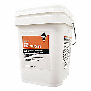 Fryer Cleaner, 8 oz. Pail, Unscented Powder, Ready to Use, 18 PK