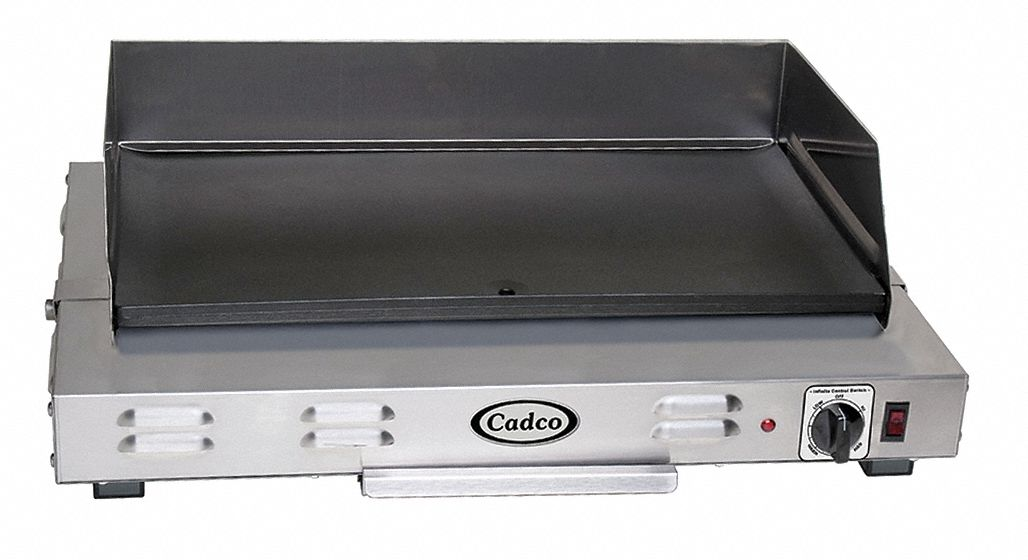 "17 3/4 in"" x 24 1/2 in"" x 9 1/4 in"" Countertop Griddle"