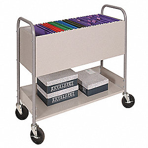 Mail Cart,11 In. L,38 In. W,36-1/2 In. H