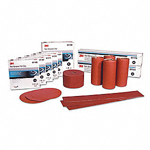 RED ABRASIVE 8IN P80D 25/BX