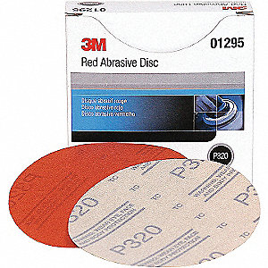 DISC HOOKIT RED ABR 5IN P320 50/BX