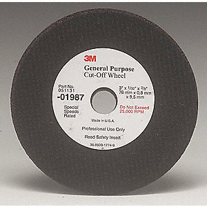 WHEEL CUT-OFF GENERAL PURPOSE 3IN