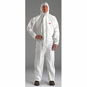 COVERALL,MICROPOROUS,SIZE M,WHITE