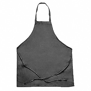 "34"" x 28"" Bib Apron, Black, One Size Fits All"