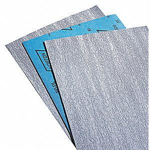 "Very Fine Silicon Carbide Sanding Sheet, 220 Grit, 11"" L X 9"" W, Backing Weight : B, 100 PK"