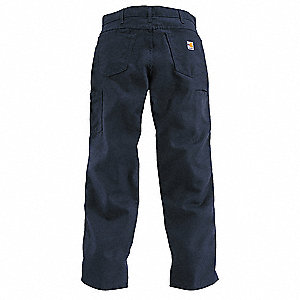 "Blue Pants, Cotton/Nylon, Fits Waist Size: 38"", 32"" Inseam, 12.1 cal./cm2 ATPV Rating"