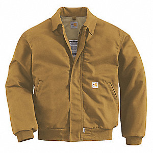 Flame-Resistant Bomber Jacket,Brown,2XL
