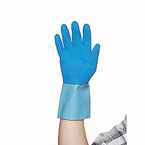 GLOVES LATEX BLUE GRIP 13IN BLUE XL