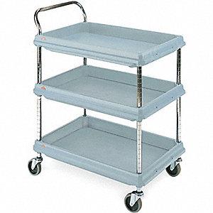 Utility Cart,Microban,34x22x33,3 Shelf