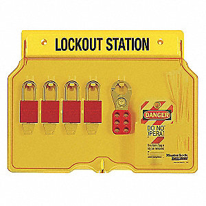 LOCKOUT STATION W/4 ALUM LOCK