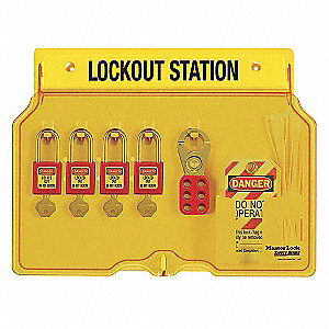 LOCKOUT STATION W/4 PLASTIC LOCK